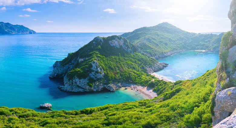 Bucht auf Insel Korfu