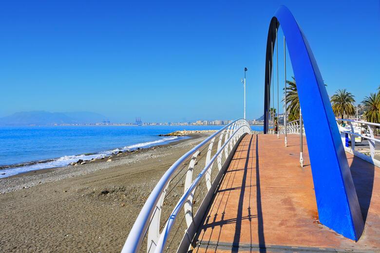 Strand vin Las Acacias in Malaga