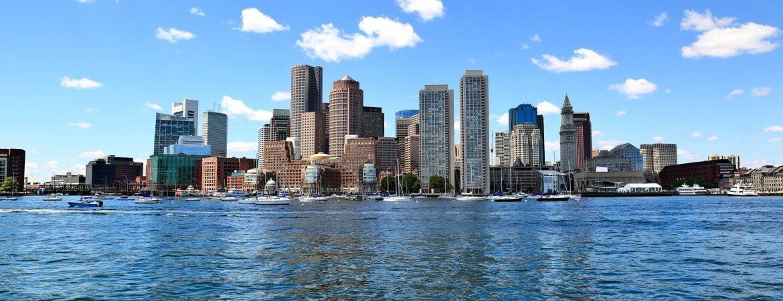 Die Skyline von Boston an der Ostküste der USA