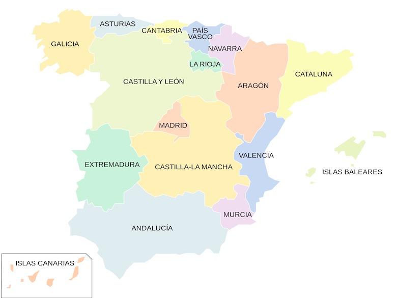 Spanien Regionen Karte.Spanische Regionen Im überblick Spanien Reisewelt