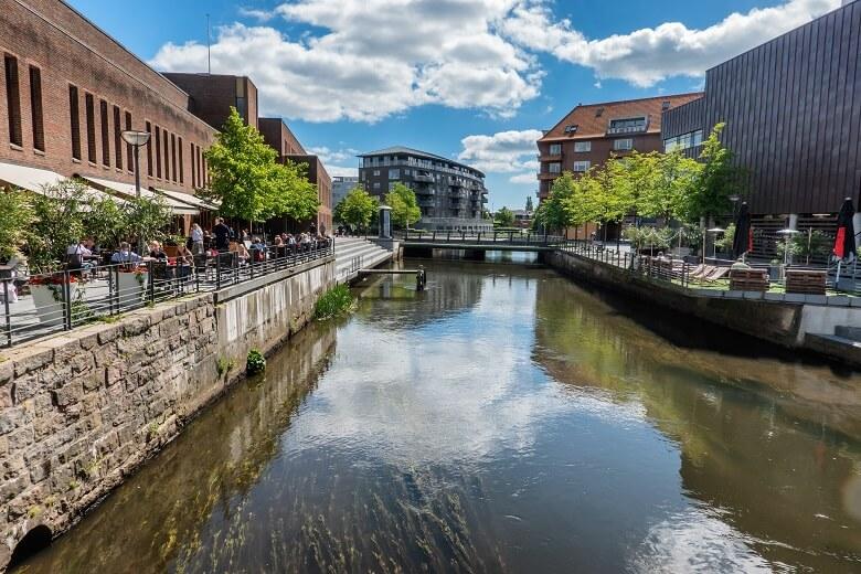 Das moderne Stadtzentrum von Vejle