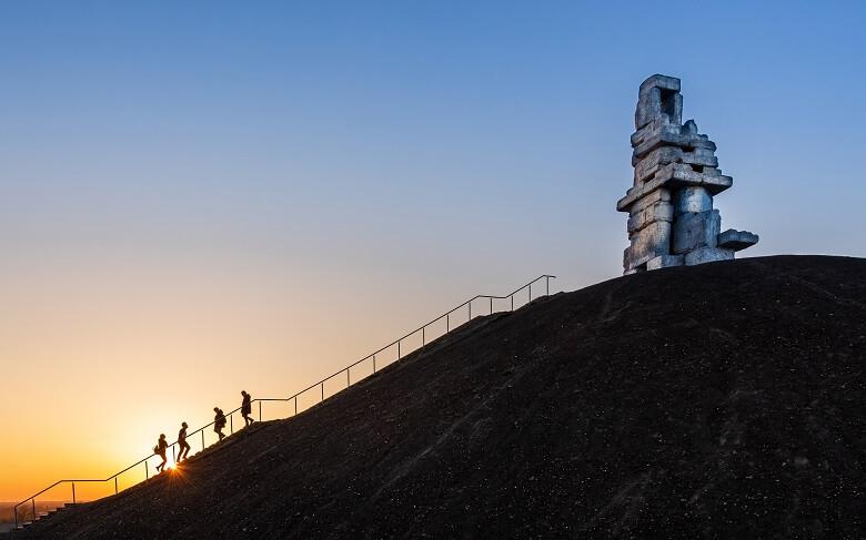 Himmelstreppe auf der Halde Rheinelbe in Gelsenkirchen