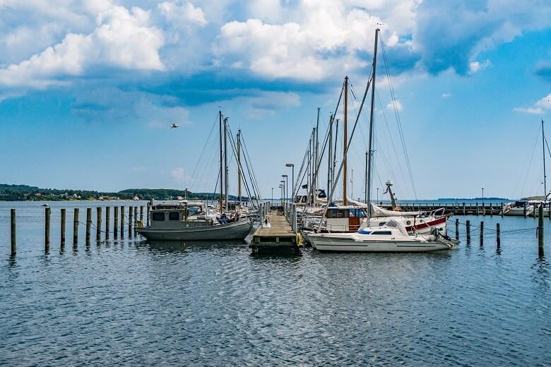 Boote im Hafen von Horsens in Dänemark