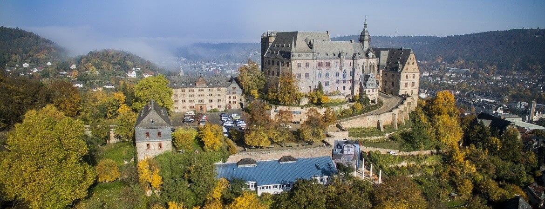 Das Landgrafenschloss in Marburg auf der Deutschen Märchenstraße