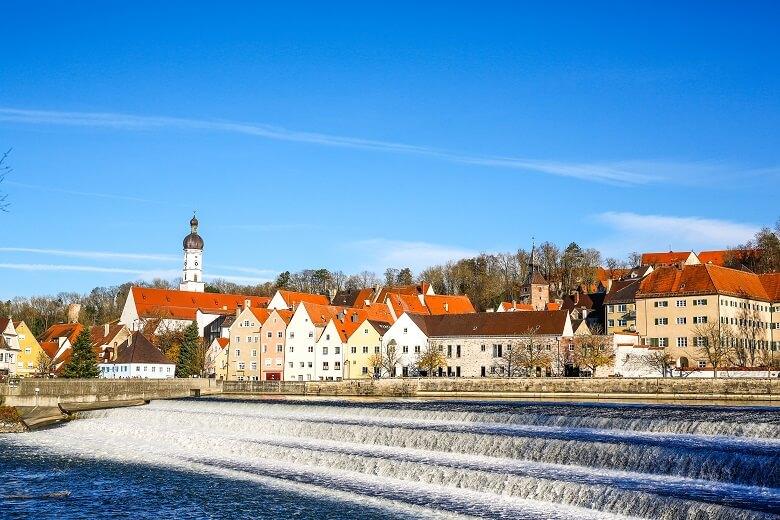 Die Stadt Landsberg am Lech in Bayern