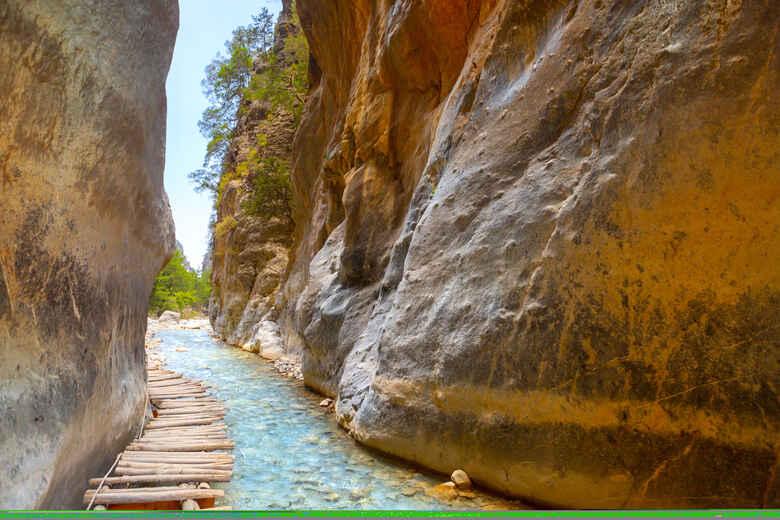 Blick au die Samaria Schlucht, Kreta, Griechenland