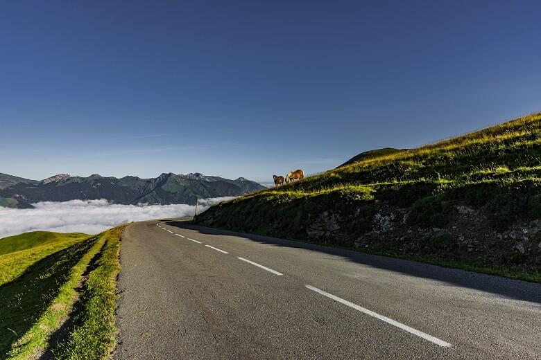 Gebirgspass Col d'Aubisque in den französischen Pyrenäen