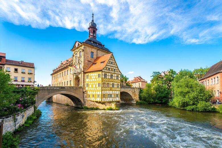 Das Brückenrathaus in Bamberg