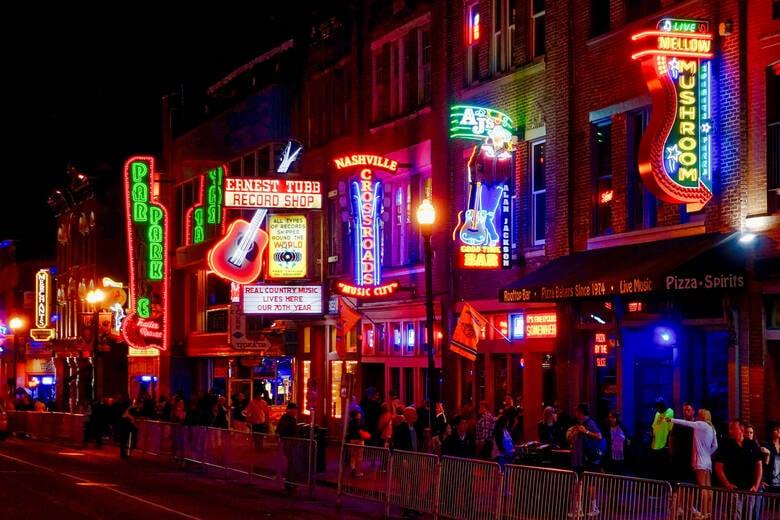 Musikbars in Nashville, USA