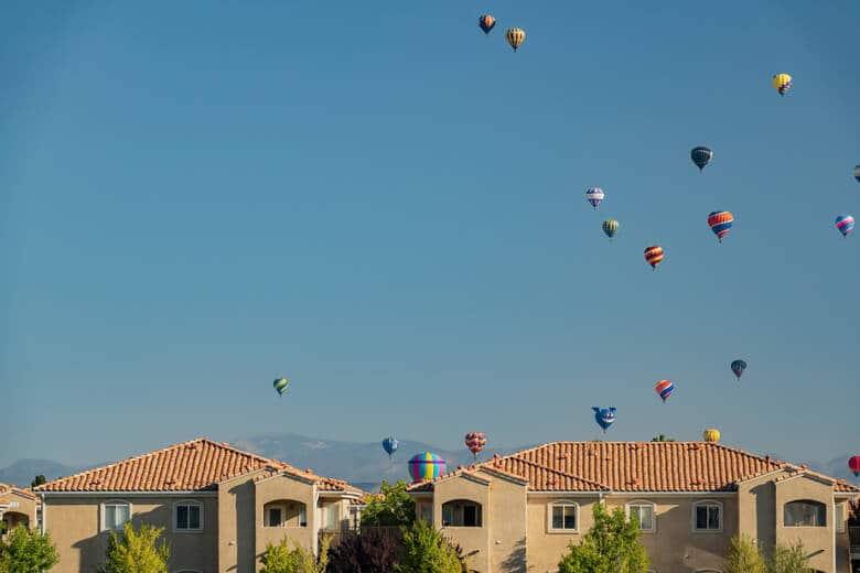 Heißluftballons über Albuquerque, USA