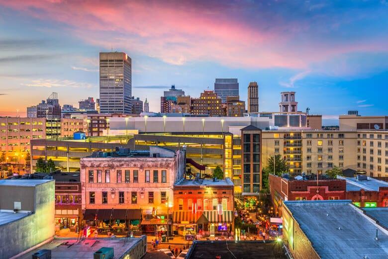 Beale Street in Memphis, USA