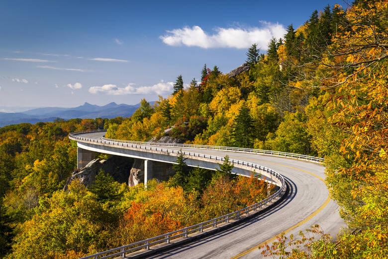 Blue Ridge Parkway im Smoky Mountain NLP in den USA
