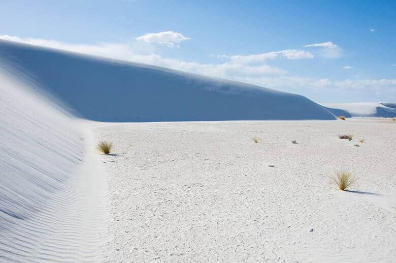 Weiße Sanddünen in den USA