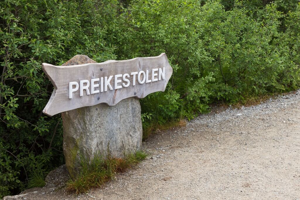 Sign of Preikestolen