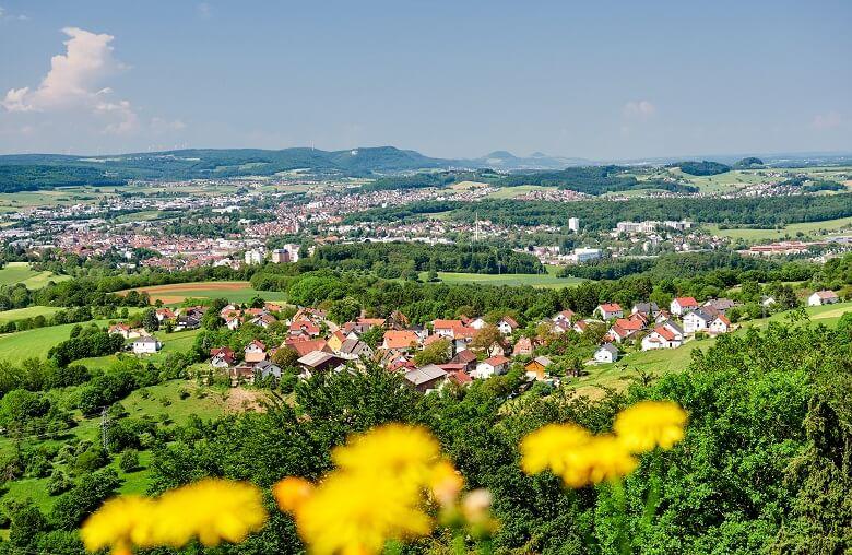 Blick auf Aalen in Baden-Württemberg