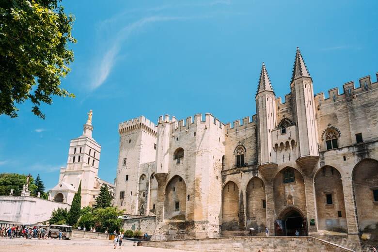 Der Papstpalast von Avignon in Frankreich