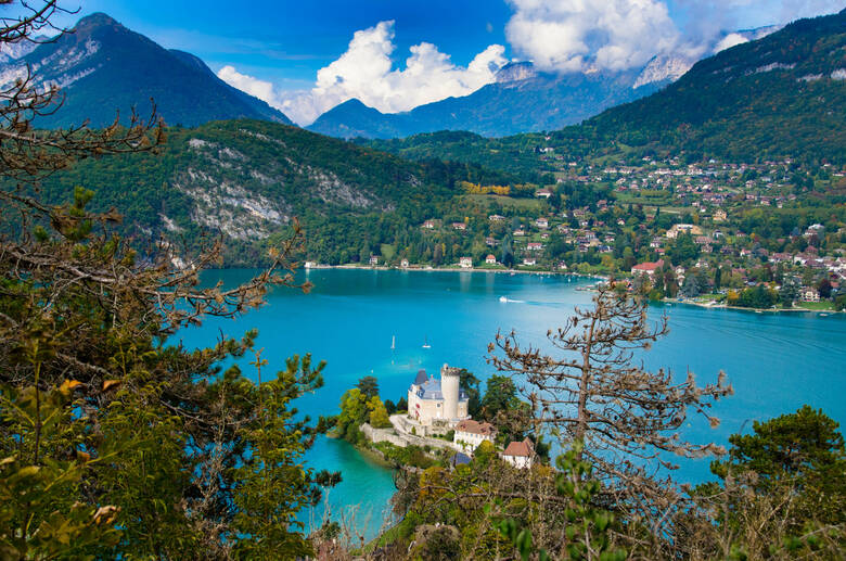 Lac d'Annecy in Frankreich