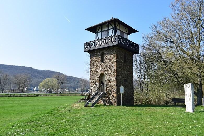 Der Limesturm in Rheinbrohl auf der Deutschen Limes-Straße