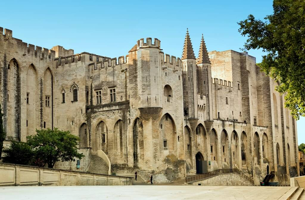 Papstpalast in Avignon, Provence, Frankreich