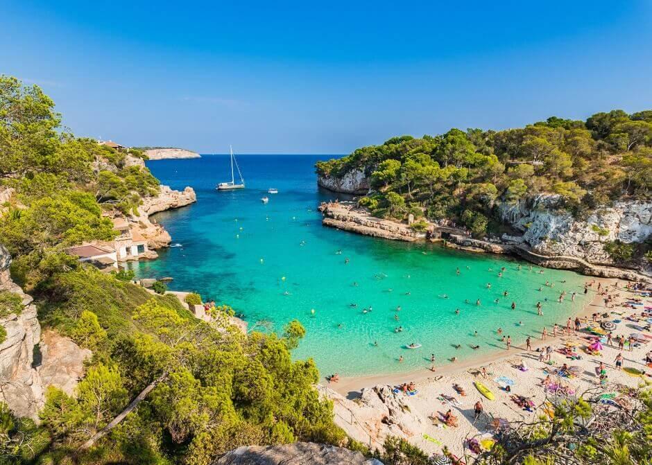 Strand von Cala Santanyi auf Mallorca