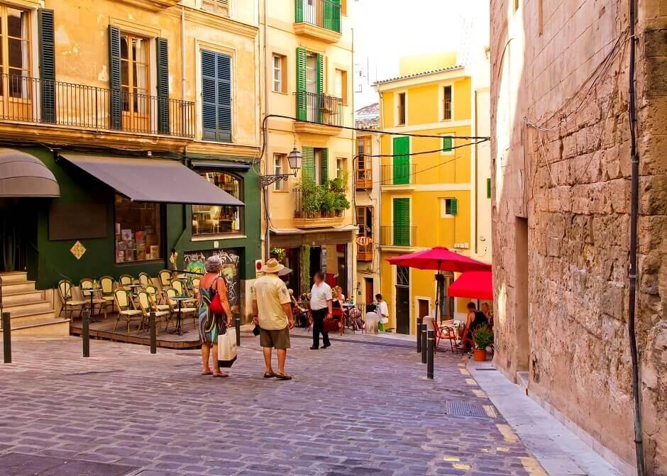 Shopping Straße auf Mallorca