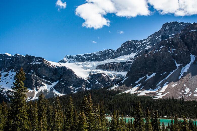 Crowfoot Glacier in den Rocky Mountains