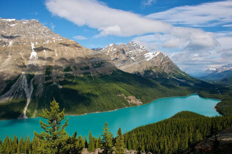 Peyto Lake in den kanadischen Rocky Mountains