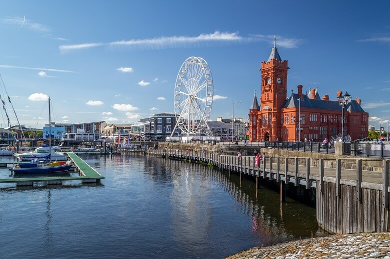 Cardiff Bay in der Hauptstadt von Wales