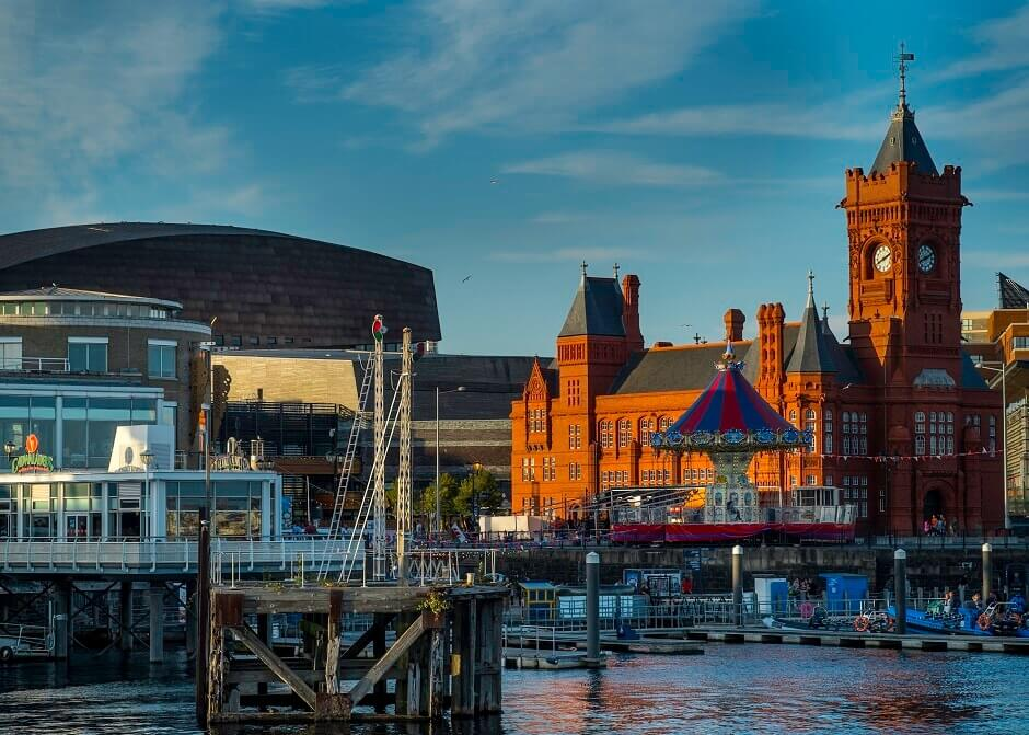 Hafen in Cardiff, Wales