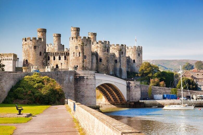 Cowny Castle in Wales
