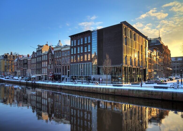 Blick auf das Anne-Frank-Haus