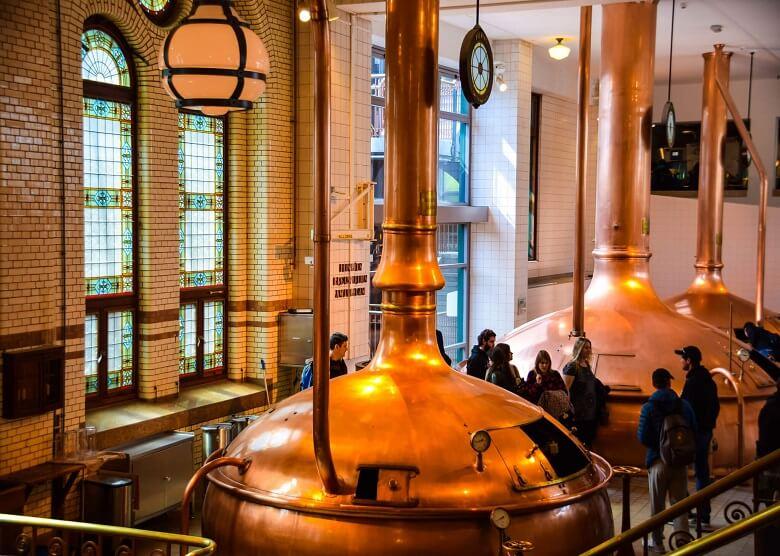 Braukessel der Heineken Brauerei