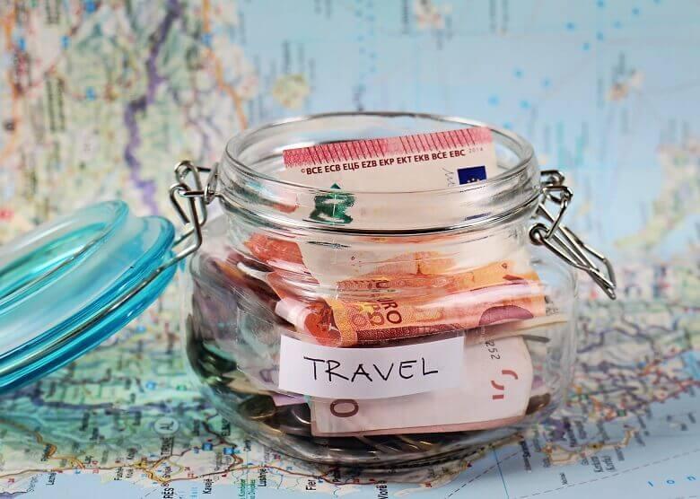 Spardose für Reisen
