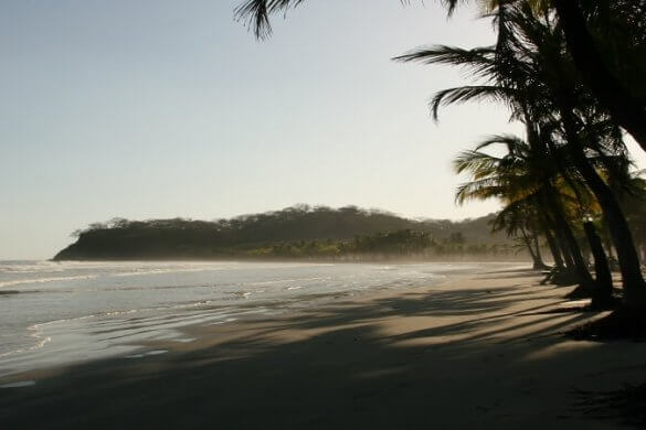 Strand bei Sámara in Costa Rica