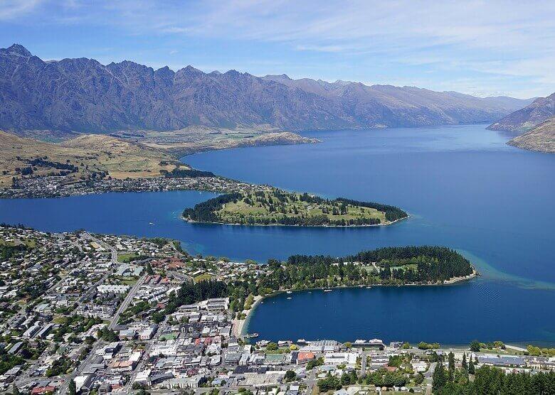 Blick über Queenstown. Neuseeland