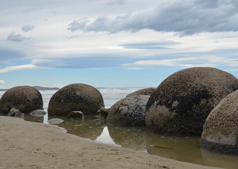 Moeraki Boulders auf der Südinsel