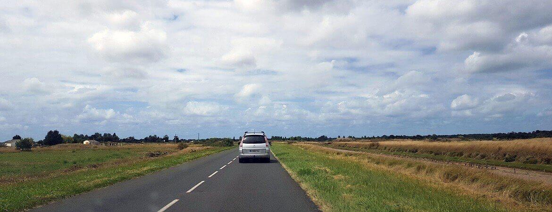 Straße in Frankreich
