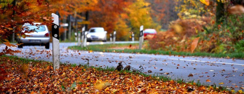 Herbst Straßenverkehr