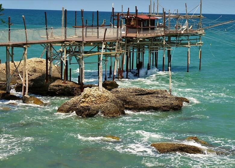 Fischerhütte an der Küste