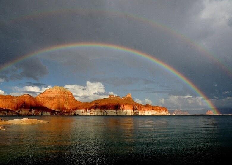 Regenbogen über dem Lake Powell