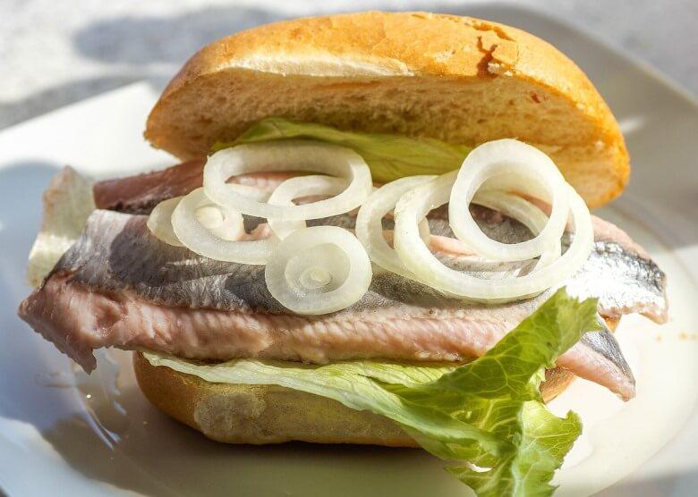 Hamburger Spezialität: Fischbrötchen