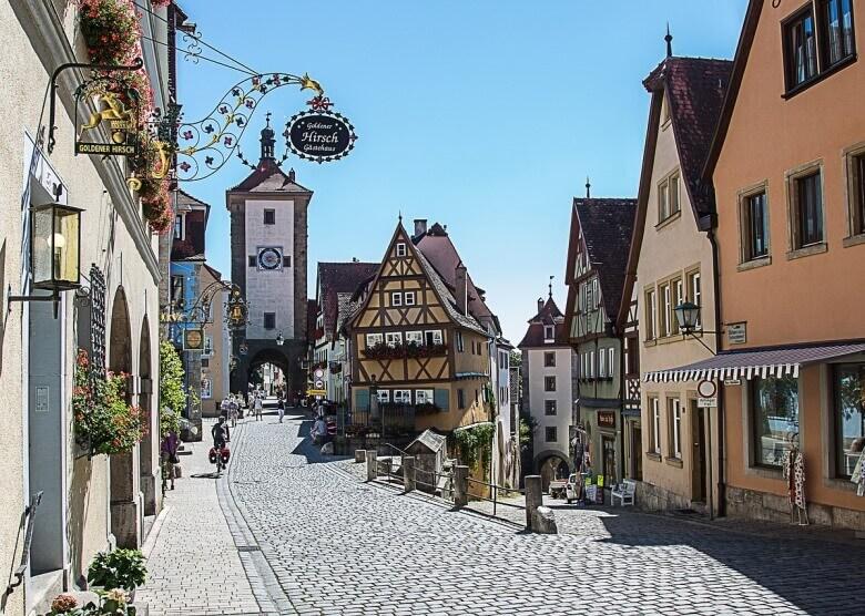 Die Altstadt von Rothenburg ob der Tauber