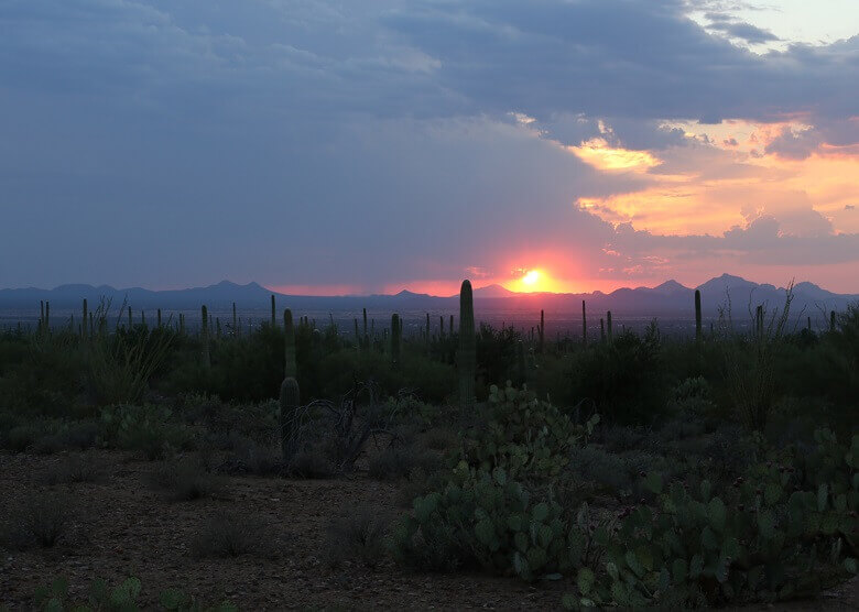 Sonnenuntergang in Arizona