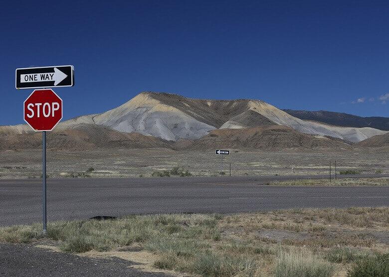 Straßenschild in Colorado