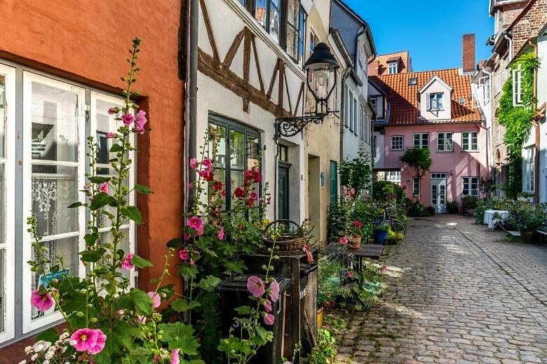 Das Gangviertel in Lübeck