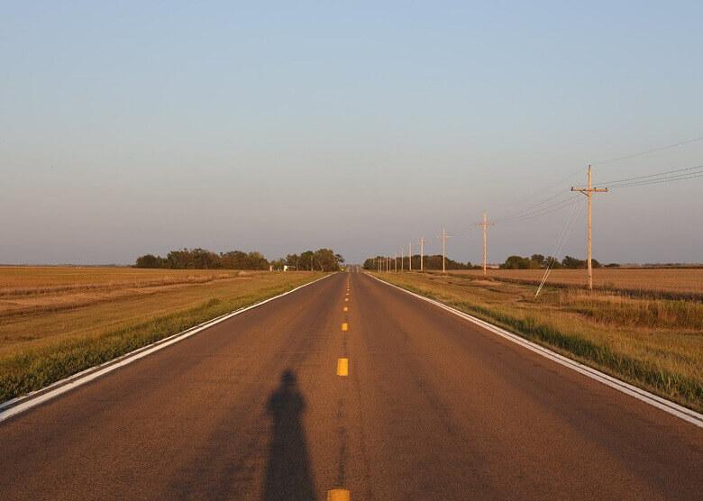 Straße in Kansas