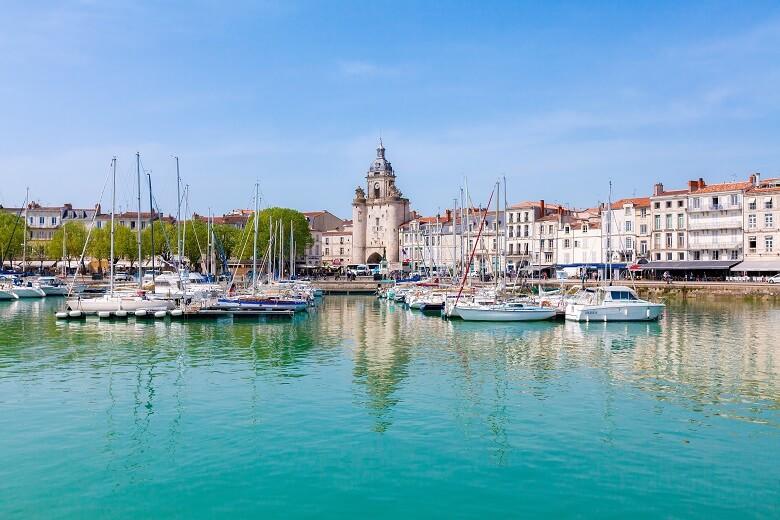 Der Hafen von La Rochelle in Frankreich