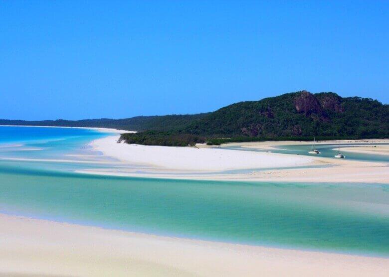Der Whitehaven Beach in Australien - einer der schönsten Sandstrände der Welt!