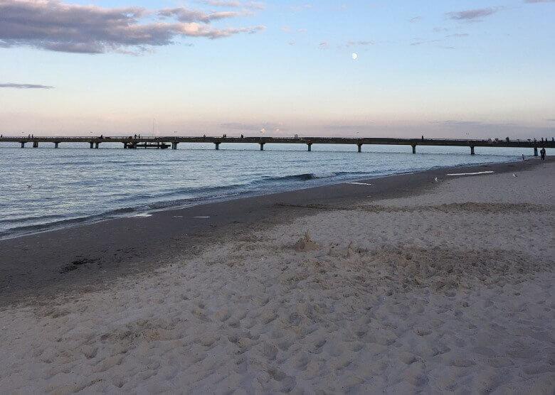 Der Ostsee-Strand in Timmendorf