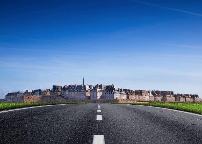 Straße nach St. Malo